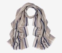 Schal Mit Vertikalen Streifen Grau