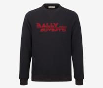 Sweatshirt Mit Bally Suvretta-Stickerei Blau