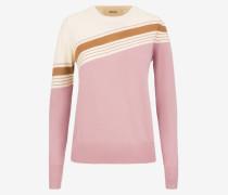 Langärmeliger Pullover Mit Intarsien-Design Mehrfarbig