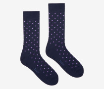 Kurze Gepunktete Socken Blau