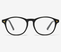 Hype Brille Im Browline-Stil Schwarz 1