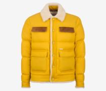 Pufferjacke Mit Aufgesetzten Taschen Gelb