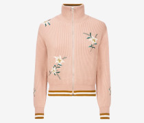 Edelweiss Knitted Bomber Jacket Rosa