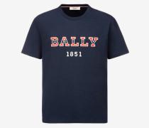 T-Shirt Mit Rundhalsausschnitt Und Logo Blau