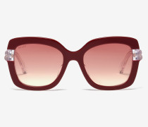 Glacier Sonnenbrille In D-Form Von Bally Mehrfarbig