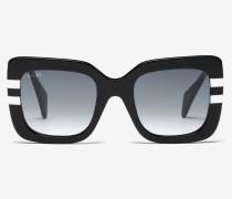 Eckige Rodeo Sonnenbrille Schwarz