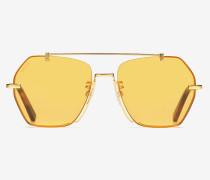 Geometrische Cruz Sonnenbrille Gelb