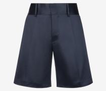 Satin-Shorts Blau