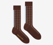 'B' Socken Braun