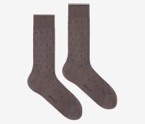 "Kurze Klassische B""-Socken Grau"