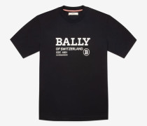 T-Shirt Mit Logo Blau Xxxl
