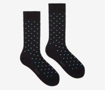 Kurze Gepunktete Socken Schwarz