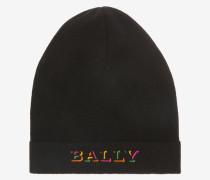 Mütze Mit Aufgesticktem Logo Schwarz