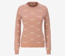 Jacquard-Pullover Für Damen Rosa
