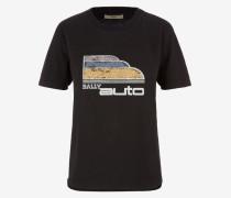 T-Shirt Mit Bally Auto-Print Schwarz