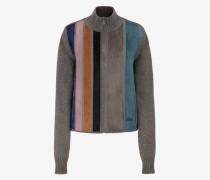 Pullover Mit Streifen Aus Wolle Und Wildleder Mehrfarbig
