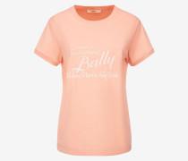 T-Shirt Mit Label-Print Aus Den Archiven Rosa