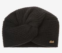 Knotted Beanie Hat Schwarz