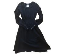 Second Hand  Kleid aus Wolle in Schwarz