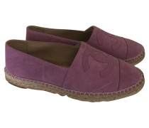 Second Hand Slipper/Ballerinas aus Wildleder