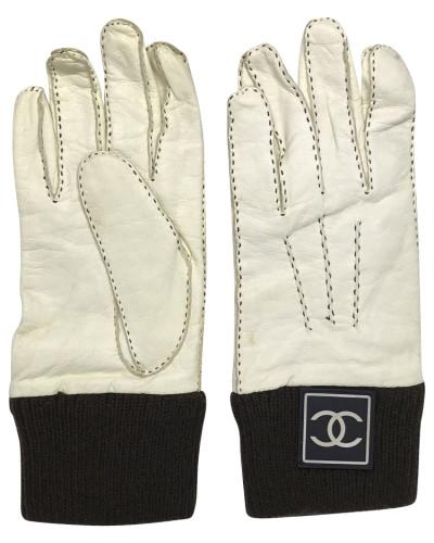 Second Hand  Handschuhe aus Leder/Kaschmir