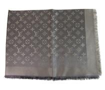 Second Hand  Schal/Tuch aus Seide in Silbern
