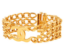 Second Hand  Goldfarbenes Armband mit Logo