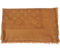 Second Hand  Monogram Tuch aus Seide in Braun