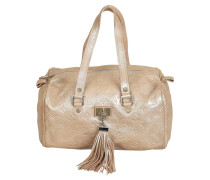 Second Hand  Handtasche aus Leder in Gold