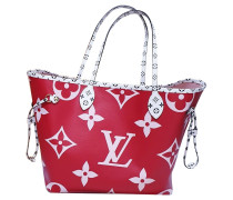 Second Hand  Shopper aus Canvas in Rot
