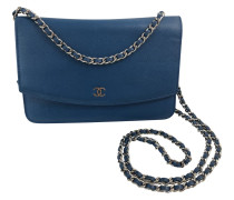 Second Hand  Wallet on Chain aus Leder in Blau