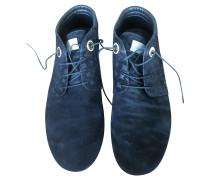 Second Hand  Sneakers aus Wildleder in Schwarz