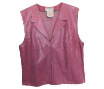 Second Hand  Lederweste in Pink