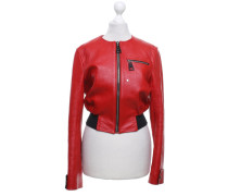 Second Hand  Jacke/Mantel aus Leder in Rot
