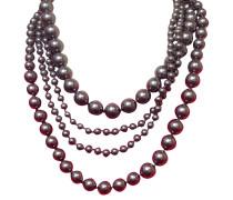 Second Hand  Mehrreihige graue Perlenkette