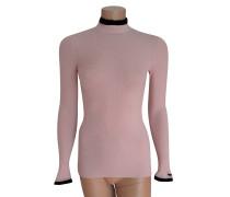 Second Hand  Pullover in Rosé/Schwarz