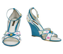 Second Hand  Wedges Monogram Multicolor