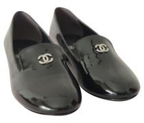 Second Hand  Schnürschuhe aus Lackleder in Schwarz
