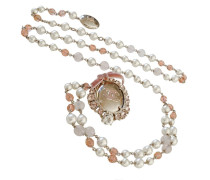 Second Hand  Perlen-Gürtel-Sautoir mit CC-Schild