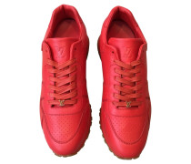 Second Hand  Sneakers aus Leder in Rot