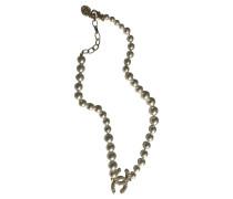 Second Hand  Kette aus Perlen in Creme