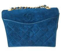 Second Hand  Wildleder-Handtasche in Blau