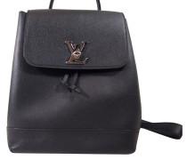 f9670143f78ca Second Hand Rucksack aus Leder in Schwarz. Louis Vuitton