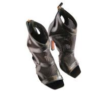 Second Hand  Stiefel aus Leder in Schwarz