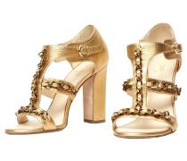 Second Hand  Goldfarbene Sandaletten