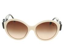 Second Hand  Sonnenbrille in Creme/Schwarz