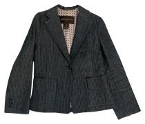 Second Hand  Blazer aus Baumwolle in Grau