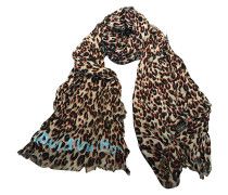 Second Hand  Schal mit Animal-Print