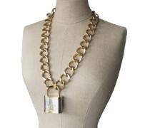 Second Hand  Halskette mit Schloss-Anhänger