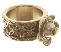 Second Hand  Ring mit Perlenbesatz